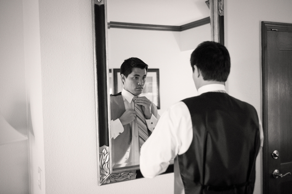 Ronald Getting Ready for Wedding Ceremony